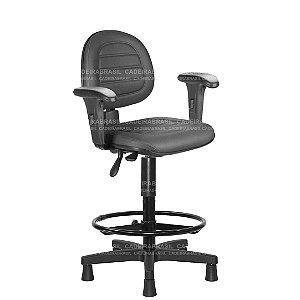 Cadeira Caixa Ergonômica Executiva com Braços Reguláveis e Base Aço Capa Ravan Plus CB 257