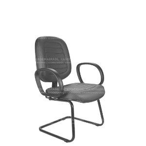 Cadeira Diretor Fixa com Braços Ravan Plus CB 253