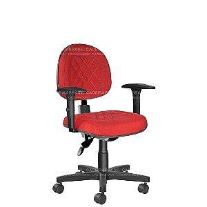 Cadeira Ergonômica Executiva Giratória com Braços Reguláveis e Base Aço Capa Senna CB 404