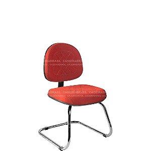 Cadeira Fixa Executiva com Base Cromada Senna CB 408