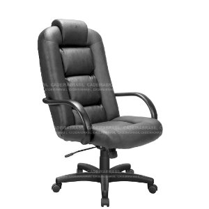 Cadeira Escritório Presidente Giratória com Braços Fixos e Base Aço Capa Siena CB 1440