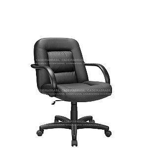 Cadeira Escritório Diretor Giratória com Braços Fixos e Base Aço Capa Siena CB 1441