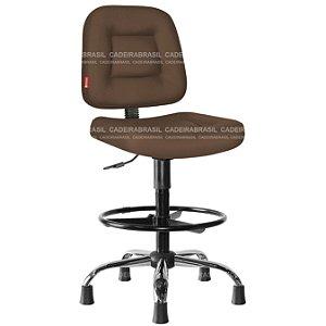 Cadeira Caixa Executiva Cromada com Apoio de Pés Preto Siena Plus CB 1405