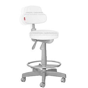 Cadeira Mocho Alto Ergonômico Estética, Fisioterapia, Odontologia Plus Premium Cadeira Brasil CB 1549
