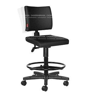 Cadeira Caixa Alta Ergonômica Executiva Base Aço Capa Ideale CB 3025