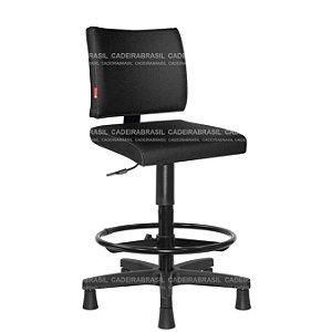 Cadeira Caixa Alta Ergonômica Base Aço Capa Ideale CB 3034
