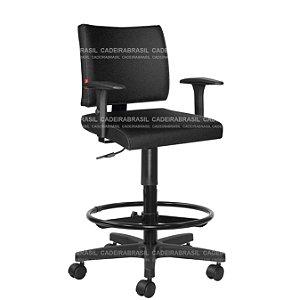 Cadeira Caixa Alta Executiva com Braços Base Aço Capa Ideale CB 3036