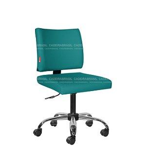 Cadeira Escritório Executiva Base Cromada Ideale Plus CB 3028