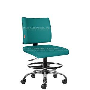 Cadeira Escritório Executiva Base Cromada Ideale Plus CB 3030