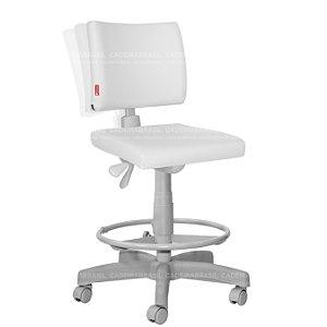 Cadeira Caixa Alta Ergonômica Executiva Base Aço Capa Ideale Premium CB 3021