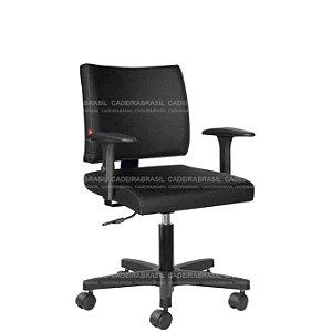 Cadeira Escritório Executiva com Braços Base Aço Capa Ideale CB 3027