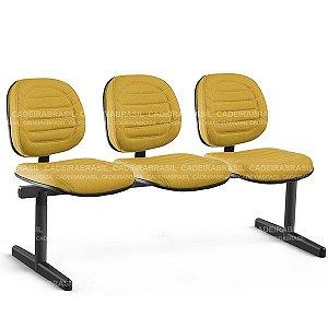 Longarina 3 Lugares Executiva Lacerta CB 713 Cadeira Brasil