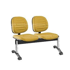 Longarina 2 Lugares Executiva Lacerta CB 740 Cromada Cadeira Brasil