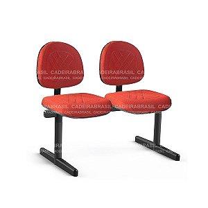 Longarina 2 Lugares Executiva Senna CB 412 Cadeira Brasil