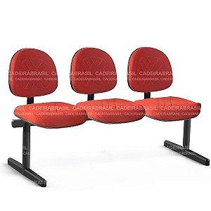 Longarina 3 Lugares Executiva Senna CB 413 Cadeira Brasil