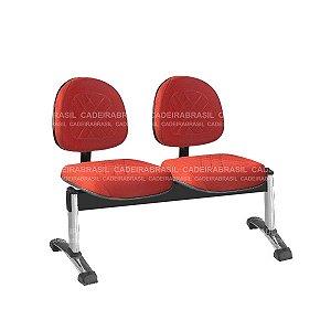 Longarina 2 Lugares Executiva Senna CB 432 Cromado Cadeira Brasil