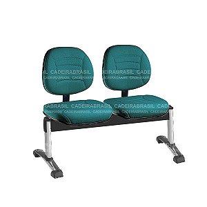 Longarina 2 Lugares Executiva Firenze CB 532 Cromada Cadeira Brasil