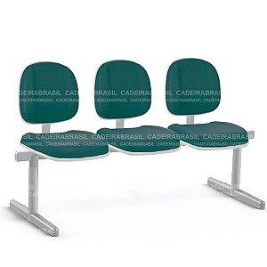 Longarina 3 Lugares Executiva Gomada Concert Premium CB 663 Cadeira Brasil