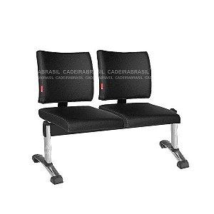 Longarina 2 Lugares Ideale CB 3045 Plus Cadeira Brasil