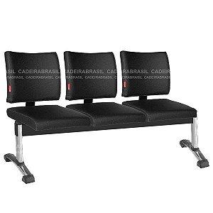 Longarina 3 Lugares Ideale CB 3046 Plus Cadeira Brasil
