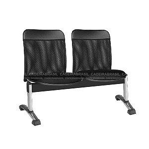 Longarina 2 Lugares New Tela CB 2044 Cadeira Brasil