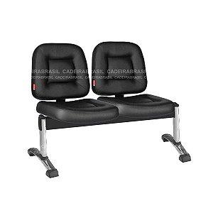 Longarina 3 Lugares Siena CB 1424 Plus Cadeira Brasil