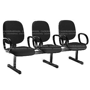 Longarina 3 Lugares Diretor Ravan CB 283 Cadeira Brasil
