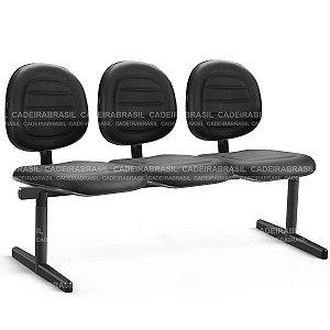 Longarina 3 Lugares Executiva Ravan Plus CB 263 Cadeira Brasil