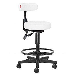 Cadeira Mocho Alto Estética, Fisioterapia, Odontologia Slim Ergonômico Cadeira Brasil CB 1544