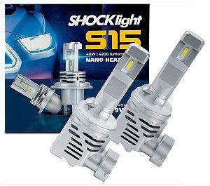 KIT ULTRA LED NANO S15 H27 8400LM 6K SHOCKLIGHT