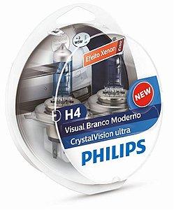 PAR LAMPADA H4 CRYSTAL VISION ULTRA - PHILIPS