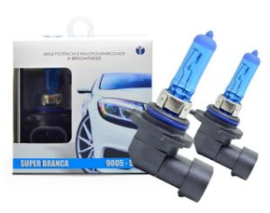 PAR LAMPADAS SUPER BRANCA HB3 8500K 55W 12V TECH ONE