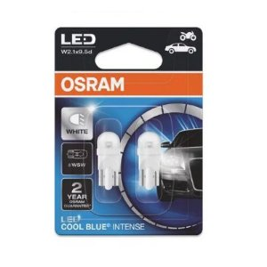 PAR T10 LED COOL BLUE INTENSE W5W 6K 12V - OSRAM
