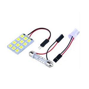 PLACA COM 12 LEDS 5050 BRANCO 12V WDC