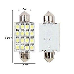 LAMPADA TORPEDO 16 LEDS 36MM 6K