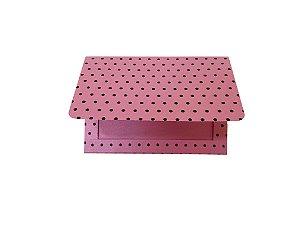 Envelope (REF 16 - 10,5 x 15,5 cm) Rosa Metal Poá Marrom