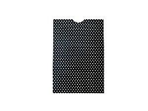 Envelope (REF 24 - 15,0 x 10,3 cm) Preto Metal Poá Branco