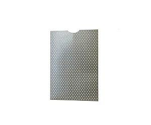 Envelope (REF 24 - 15,0 x 10,3 cm) Chumbo Metal Poá Branco