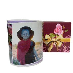 Caneca de porcelana personalizada com foto