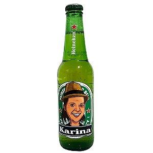 Heineken personalizada com Caricatura