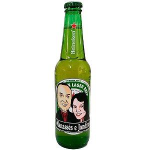 Heineken personalizada com Caricatura de Casal