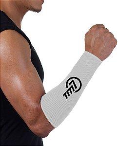 Protetor De Antebraço Tm7 Para Voleibol BRAC7 Branco Logo