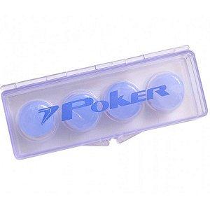 Protetor de Ouvido Poker Silicone Soft Azul