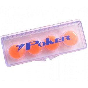 Protetor de Ouvido Poker Silicone Soft Laranja