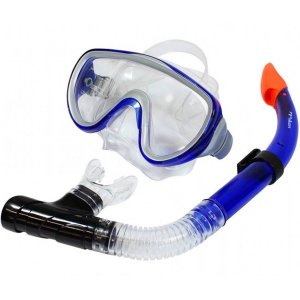 Kit De Mergulho Kea Com Máscara E Snorkel Poker Adulto
