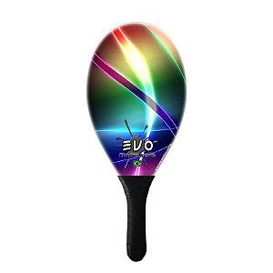 Raquete De Frescobol Evo Fibra De Vidro Laser