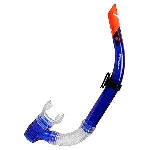 Snorkel Para Mergulho Poker Rodio Extra Azul
