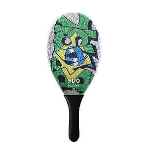 Raquete De Frescobol Evo Fibra De Vidro Brasil 3
