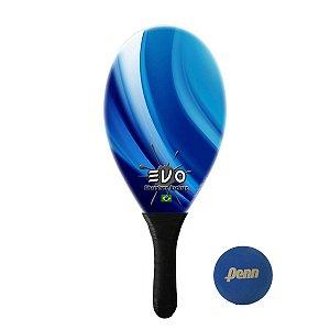 Raquete Frescobol Evo Fibra de Vidro Blue com Bola Penn
