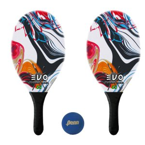 Kit Raquetes Frescobol Evo Fibra Vidro Vector com Bola Penn
